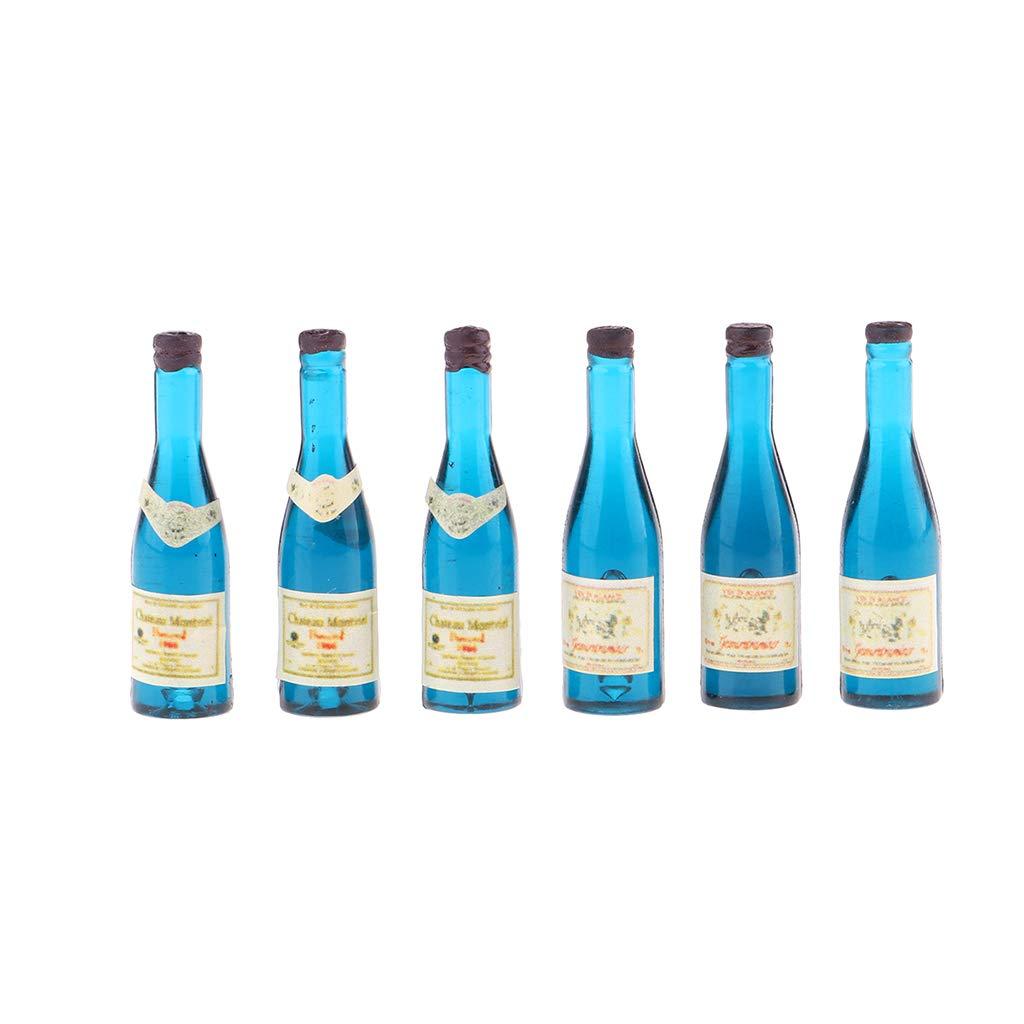3 different Miniature Dollhouse Bottles Wine Cellar Accessories Alcoholic Decor