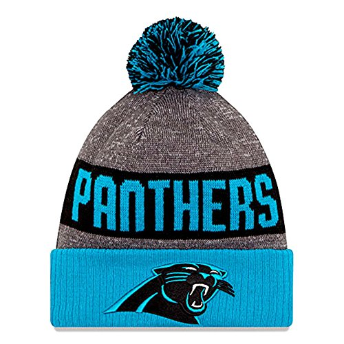 Authentic Football Beanie Hats 2016 New Era Official Sideline On Field Junior Sport Knit Cap Team Color Unisex For Boys & Girls (Youth Size, Carolina - Sideline Youth Cap