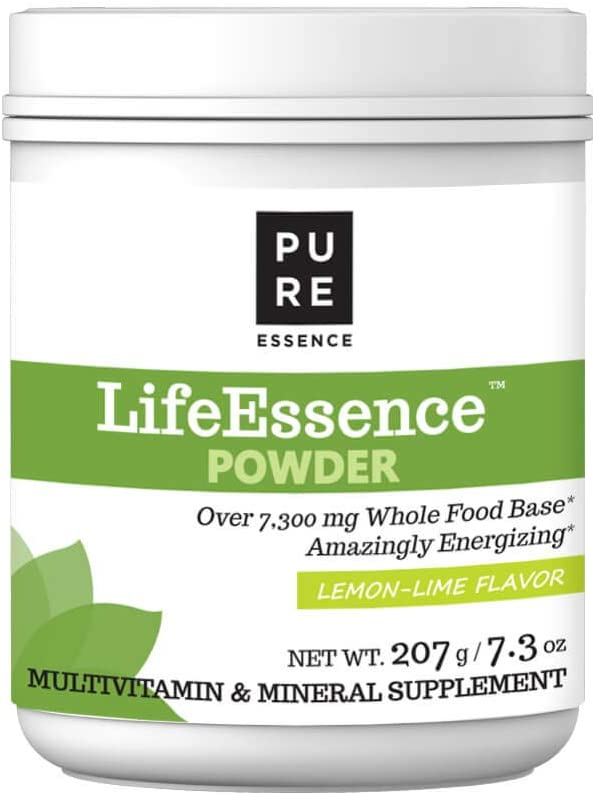 Pure Essence Labs LifeEssence Multivitamin Powder for Women and Men – Natural Herbal Supplement with Vitamin D, D3, B12, Biotin – 7.3 oz