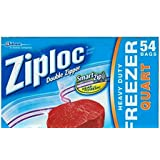 Ziploc Heavy Duty Freezer Quart 54 Bags 17.7cm x 18.8cm