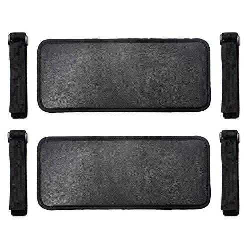 (2 Pack) Car Visor Extender Sun Blocker | Visor Extension for Car Visor on Any Car or Automobile. Lightweight Black Leather Sun Shade Extender Gives Full Shade for Driver or Passenger Side Window.