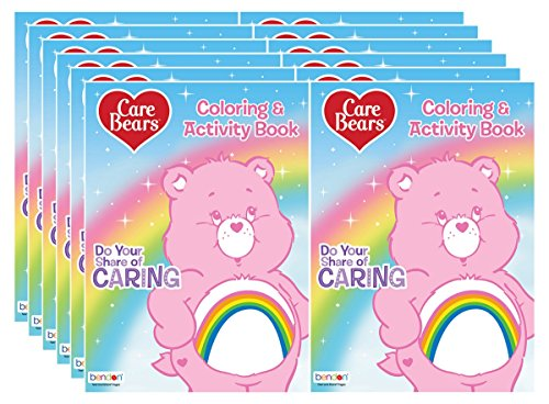 Bendon Care Bears 128-Page Do Your Share of Caring Coloring and Activity Books (Pack of 12) by Bendon