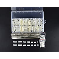 XLX 1220Pcs 2.54mm JST-XHP 2 / 3 / 4 / 5 / 6 / 7 / 8 / 9 Pin housing (and Pin Pedestal Housing) Kit and Male / Female Pin Header Terminals Connector Adapter Plug Set