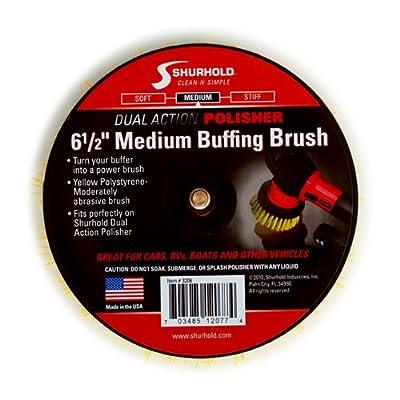 Shurhold 3206 Medium Brush for Dual Action Polisher: Automotive