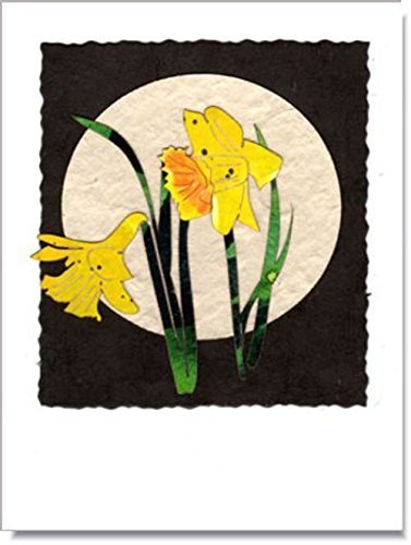 Spring Daffodils Moon Handmade Greeting (Stationery Studio Spring)