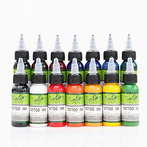 14 color permanent tattoo pigment tattoo ink embroidery machine 30ml beauty tools