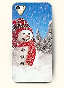 OOFIT Phone Case Design with Snowman in Snowy Day for Apple iPhone 5 5s 5g