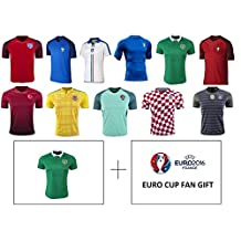 Euro Cup 2016-17 Youth Kids Soccer Jerseys – All Euro Cup Countries – All Youth Sizes YS YM YL by iSport Gifts®