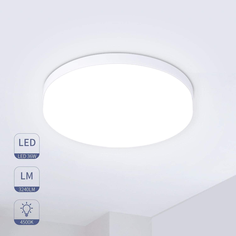 Hosome Plafon Led de Techo 36W Plafon Techo Led Cocina Luces LED Habitación Luz para Cocina, Sala de Estar, Dormitorio, Pasillo,etc.