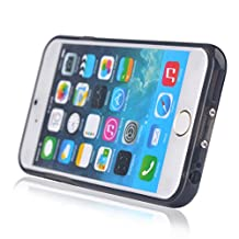 Itian Qi Wireless Charger Receiver TPU Soft Case for iPhone 6 6S Plus 5.5 Inchs(Black)