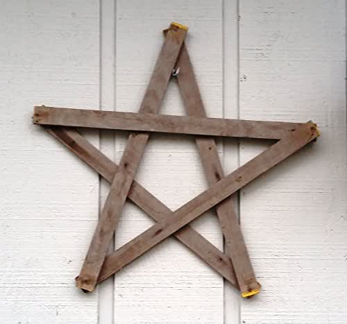 Star made from rustic reclaimed barn wood for weddings or 4th of July