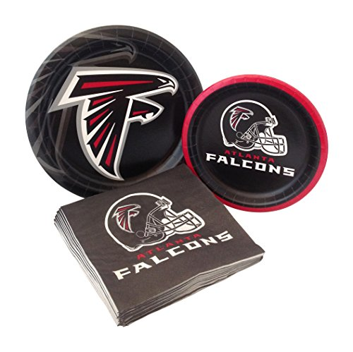 Falcon Tackle (Atlanta Falcons Football Party Supply Pack! Bundle Includes Paper Plates & Napkins for 8 Guests)