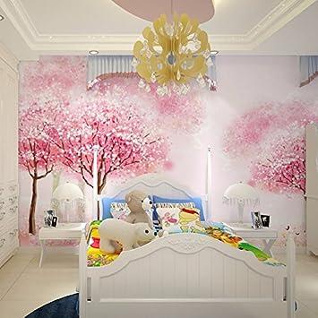 Yosot 3D Enfants Chambre Fille Chambre Rose Papier Peint Chambre ...