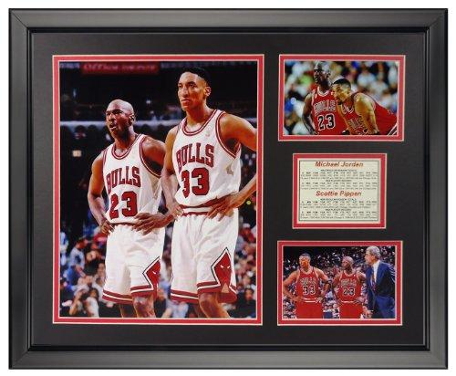 Legends Never Die Michael Jordan and Scottie Pippen Framed Photo Collage, 16