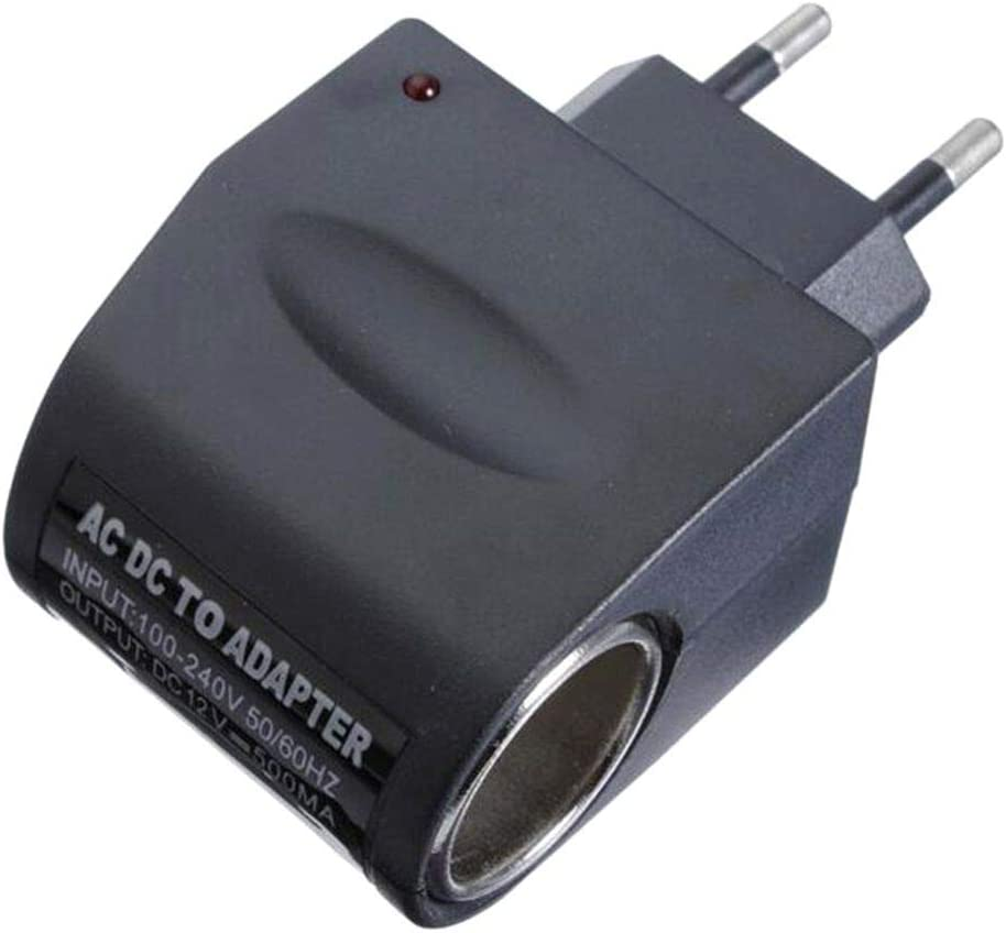 Busirde Hogar del Cargador del Coche Encendedor de Cigarrillos 110V-220V AC a DC 12V automático Adaptador del zócalo del convertidor
