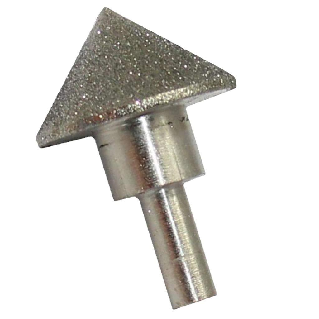 Schaft 8 mm 60 mm Durchmesser FLAMEER Diamant Schleifstift Kegelkopf Kugelfr/äser