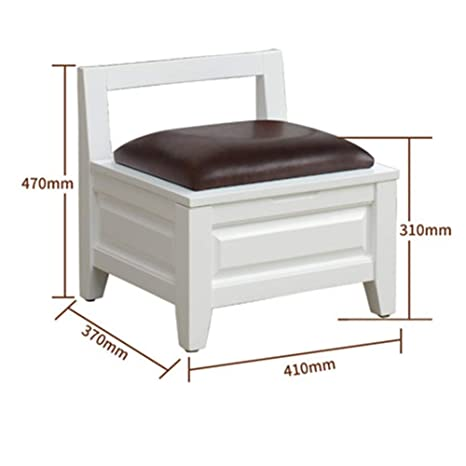 Remarkable Amazon Com Footstool Solid Wood Square Stool Storage Short Links Chair Design For Home Short Linksinfo