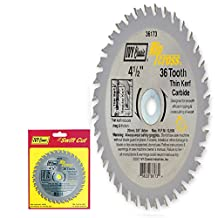 IVY Classic 36173 Ripcross 4-1/2-Inch 36 Tooth Thin Kerf Carbide Circular Saw Blade with 20mm, 3/8-inch Arbor, 1/Card