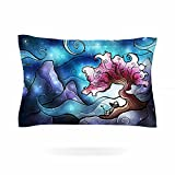 KESS InHouse Mandie Manzano ''Sea Dance'' Blue Orange Pillow Sham, 40'' x 20''