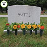 Evelots-Cemetery-Cone-Vases-with-Stakes-10-Inch-Long-Graveside-Memorial
