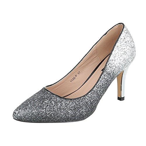 Ital-Design - Zapatillas de casa Mujer Silber 1126-P