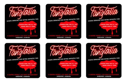 Fangtasia Coaster Set of 6 True Blood TV Mini Mousepads ()