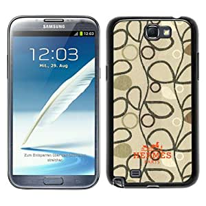 Beautiful Samsung Galaxy Note 2 N7100 Screen Cover Case ,Hermes 20 Black Samsung Galaxy Note 2 N7100 Cover Fashionabe And Durable Designed Phone Case