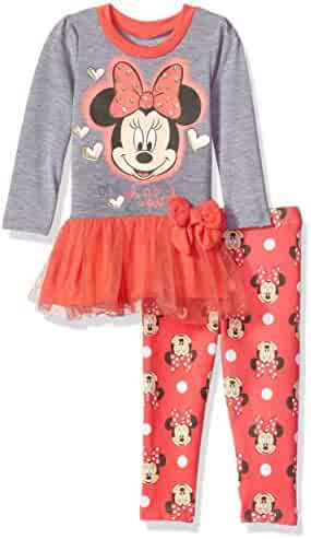 Disney Girls' Minnie Mouse 2-Piece Tulle Top and Legging Set