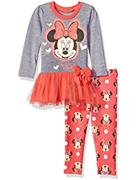 Girls' Minnie Mouse 2-Piece Tulle Top and Legging Set