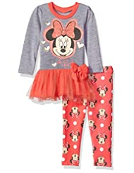 Disney Toddler Girls\' Minnie Mouse 2-Piece Tulle Top and Leg...