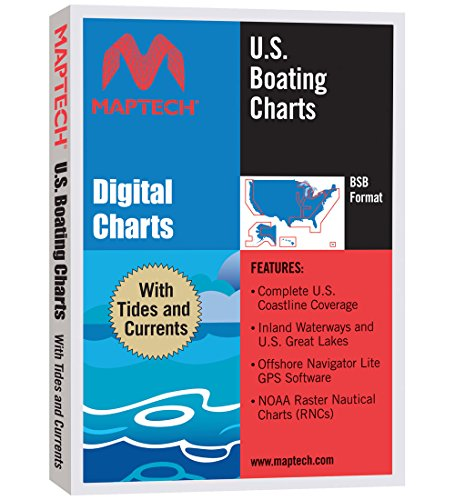 Maptech U.S. Boating Charts With Tides and Currents Raster Chart