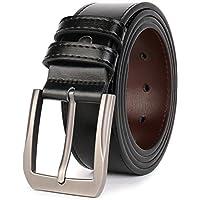QUEYUB Men's Dress Belts Genuine Leather 1.5