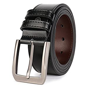 Beltox Fine Men's Casual Leather Jeans Belts 1 1/2″ Wide 4MM Thick Alloy Prong Buckle Work Dress Belt for Men