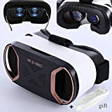 """3D VR Goggles with Remote Controller, TSANGLIGHT FOV 110° VR Headset Glasses for IOS Android iPhone 8 7 Plus Galaxy S7 S6 S5 & More 4.5-5.5"""" Cellphones 3D Movie Game Watching - Blue Lens - Rose Gold"""