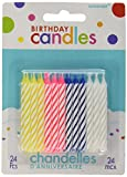Amscan (Amsdd Party Time Spiral Candy Stripe Birthday Candles (288 Piece), Assorted, 2.5''