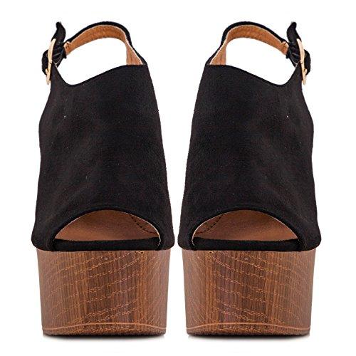 Toocool - Zapatos de vestir para mujer Negro negro 36 yUuIUToO