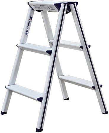 SHLDTZ Escalera De Tres Pasos De Aleación De Aluminio Ultra-Delgada para El Hogar Plegable Soporte De Flores Taburete De Almacenamiento Multifuncional (Size : 3 Step): Amazon.es: Hogar