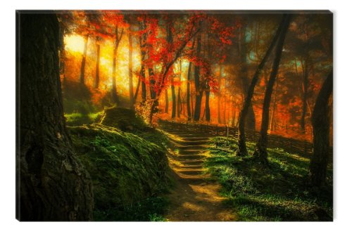 Startonight Canvas Wall Art News from my Garden, Nature USA Design for Home Decor, Dual View Surprise Artwork Modern Framed Ready to Hang Wall Art 31.5 X 47.2 Inch 100% Original Art (Famous Couples Halloween)