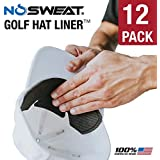 NoSweat Golf Hat Liner & Cap Protection - Prevent Hat Stains Rings | Moisture Wicking, Headband, Sweatband, Hat Saver & Protection, Prevention, Cooling Towel Effect