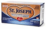 St. Joseph Enteric Coated Aspirin 81mg 200 Tablets (Pack of 8)