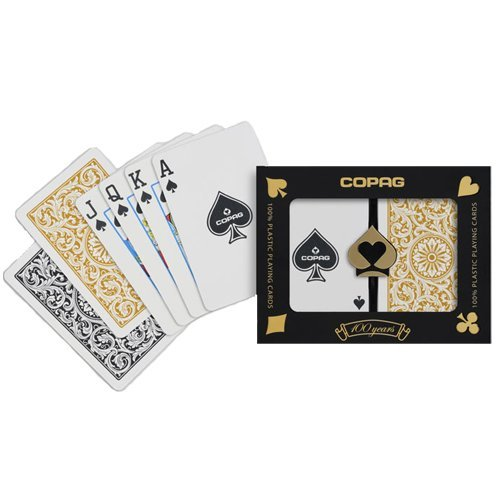 Copag Bridge Size Regular Index 1546 Playing Cards (Black Gold Setup) Copag Bridge Cards