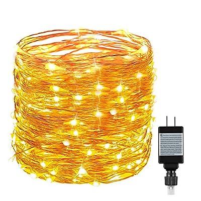 String Lights, Ruyilam Fairy Lights Waterproof Outdoor & Indoor Decorative Lights for Bedroom, Garden, Patio, Parties, UL Power Supply Copper Wire Lights, Warm White