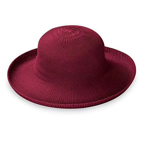 Wallaroo Hat Company Women's Victoria Sun Hat - Cranberry - Ultra-Lightweight, Packable, Modern Style, Designed in Australia.