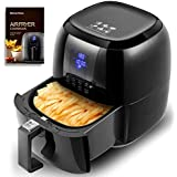 Sinoartizan Electric Oil Free Air Fryer Oven 4.2 Quarts Large Capacity Power Airfryer with Cookbooks for Fried chicken Wings Chips Steak Vegetables
