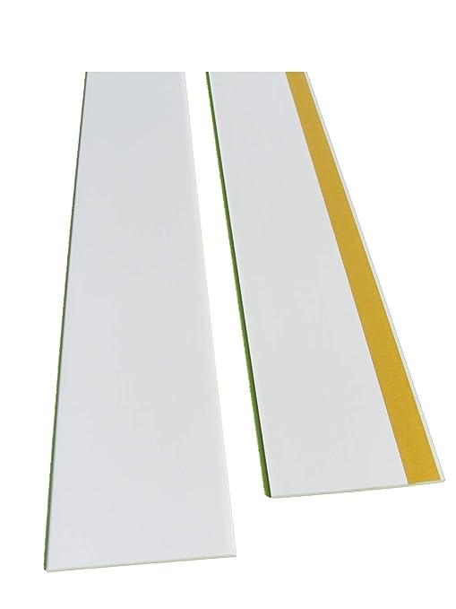 BawiTec PVC-Kunststoffleiste Abdeckleiste selbstklebend 80mm 300cm wei/ß Kunststoff