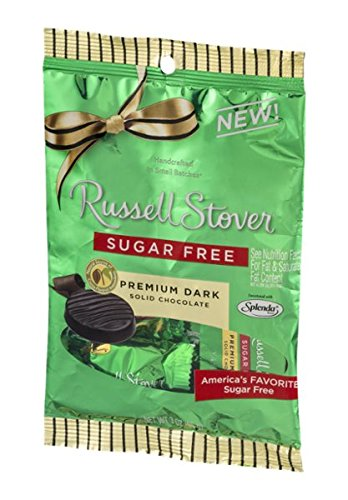 (Russell Stover Premium Dark Solid Chocolate Sugar Free)