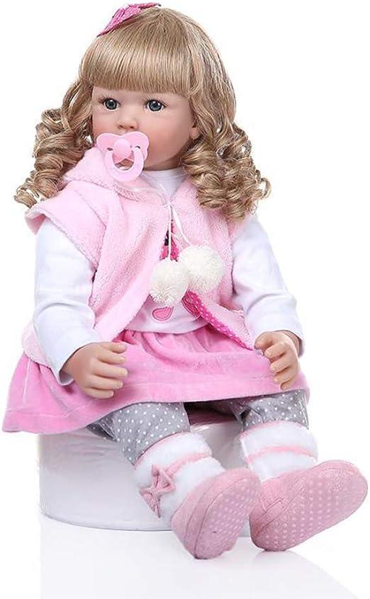 "24/"" Reborn Baby Doll Toddler Realistic Handmade Lifelike Kids Christmas Gift US"