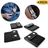 Seatbelt Adjuster,Universal Car Seat Belt Safety Covers 4-black