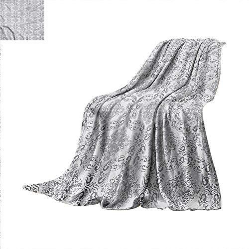 Regency Comforter - Grey Digital Printing Blanket Victorian Regency Tile Summer Quilt Comforter 90