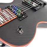 Black Carbon Fiber Vinyl Skin Wrap for Electric and Bass Guitars Air Lease Sticker DIY